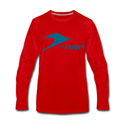 Jersey Larks Long Sleeve T-Shirt (Premium) - red