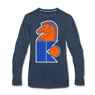 Jersey Knights Long Sleeve T-Shirt (Premium) - navy
