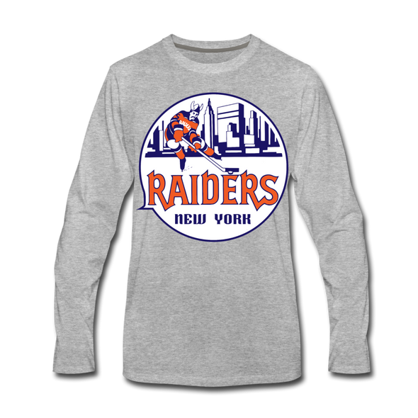New York Raiders Long Sleeve T-Shirt (Premium) - heather gray