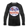 New York Raiders Long Sleeve T-Shirt (Premium) - charcoal gray