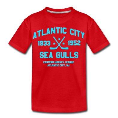 Atlantic City Sea Gulls Double Sided Kids T-Shirt - red