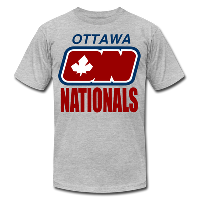 Ottawa Nationals Text T-Shirt (Premium) - heather gray
