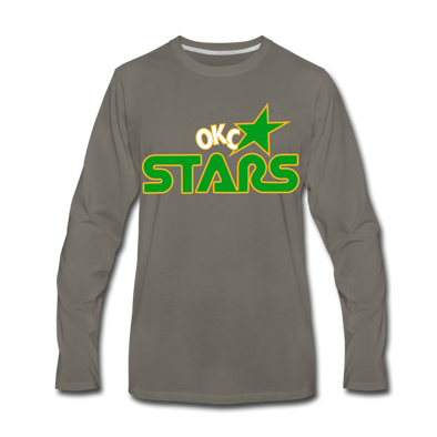 Oklahoma City Stars Long Sleeve T-Shirt (Premium) - asphalt gray