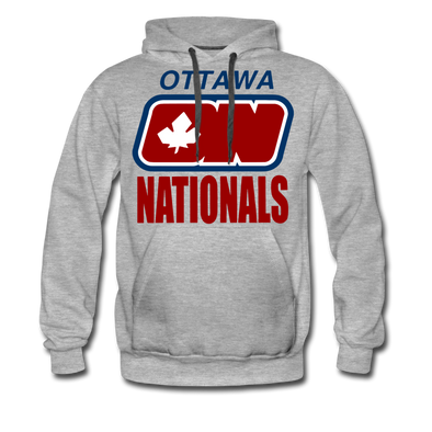 Ottawa Nationals Text Hoodie (Premium) - heather gray