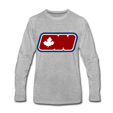 Ottawa Nationals Long Sleeve T-Shirt (Premium) - heather gray