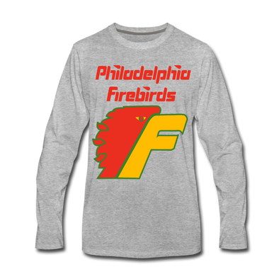 Philadelphia Firebirds Long Sleeve T-Shirt (Premium) - heather gray