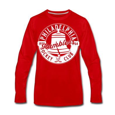 Philadelphia Ramblers Long Sleeve T-Shirt (Premium) - red