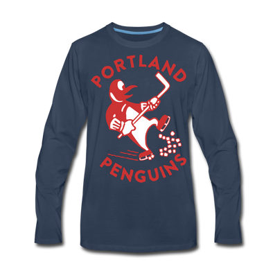 Portland Penguins Long Sleeve T-Shirt (Premium) - navy