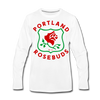 Portland Rosebuds Long Sleeve T-Shirt (Premium) - white