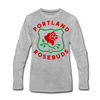 Portland Rosebuds Long Sleeve T-Shirt (Premium) - heather gray