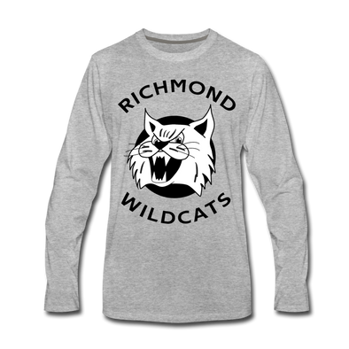 Richmond Wildcats Long Sleeve T-Shirt (Premium) - heather gray