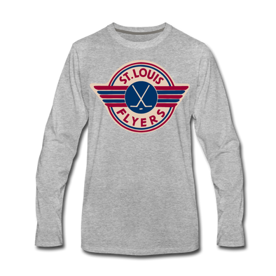 St. Louis Flyers Long Sleeve T-Shirt (Premium) - heather gray