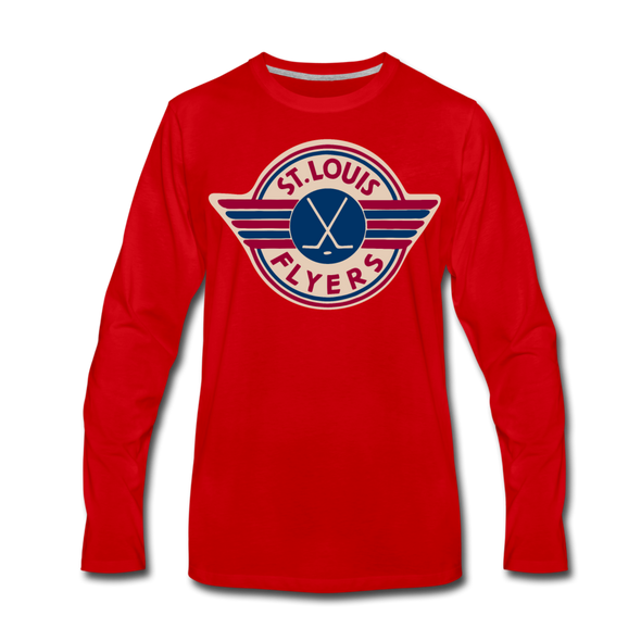St. Louis Flyers Long Sleeve T-Shirt (Premium) - red