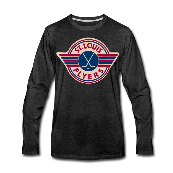 St. Louis Flyers Long Sleeve T-Shirt (Premium) - charcoal gray