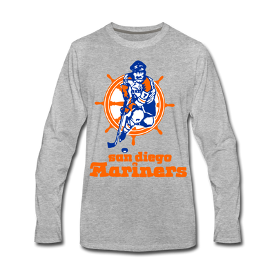 San Diego Mariners Long Sleeve T-Shirt (Premium) - heather gray