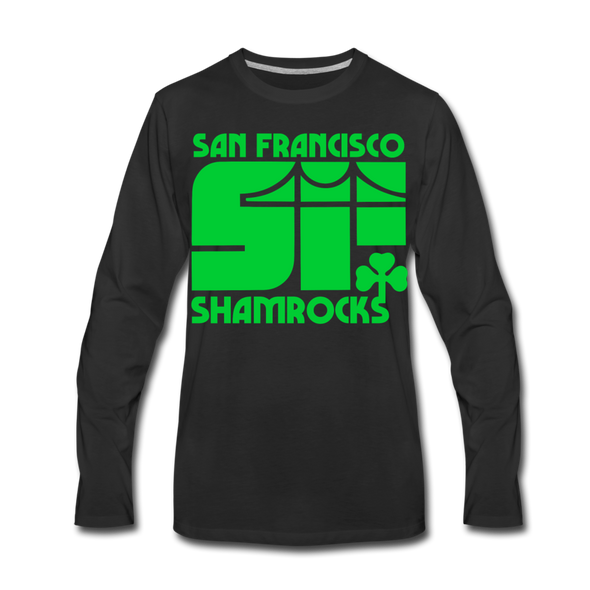 San Francisco Shamrocks Long Sleeve T-Shirt (Premium) - black