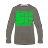 San Francisco Shamrocks Long Sleeve T-Shirt (Premium) - asphalt gray