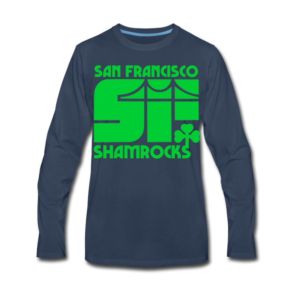 San Francisco Shamrocks Long Sleeve T-Shirt (Premium) - navy