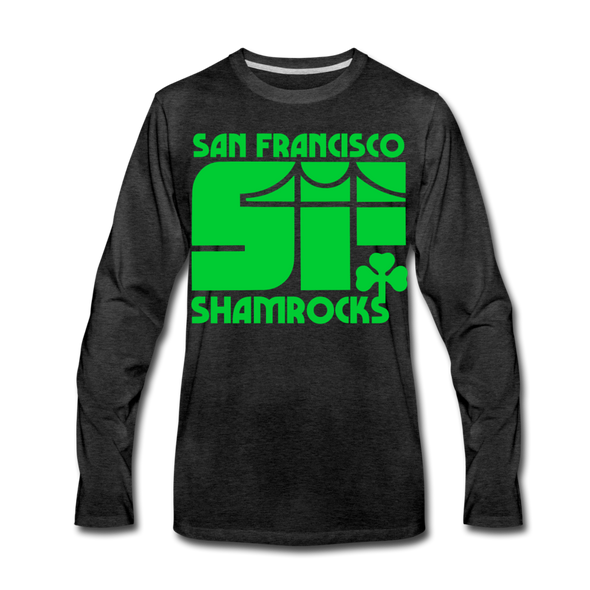 San Francisco Shamrocks Long Sleeve T-Shirt (Premium) - charcoal gray