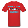 Atlantic City Sea Gulls Double Sided Adult T-Shirt - red