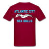 Atlantic City Sea Gulls Double Sided Adult T-Shirt - dark red