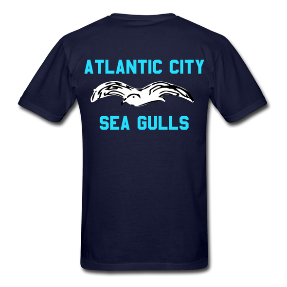 Atlantic City Sea Gulls Double Sided Adult T-Shirt - navy