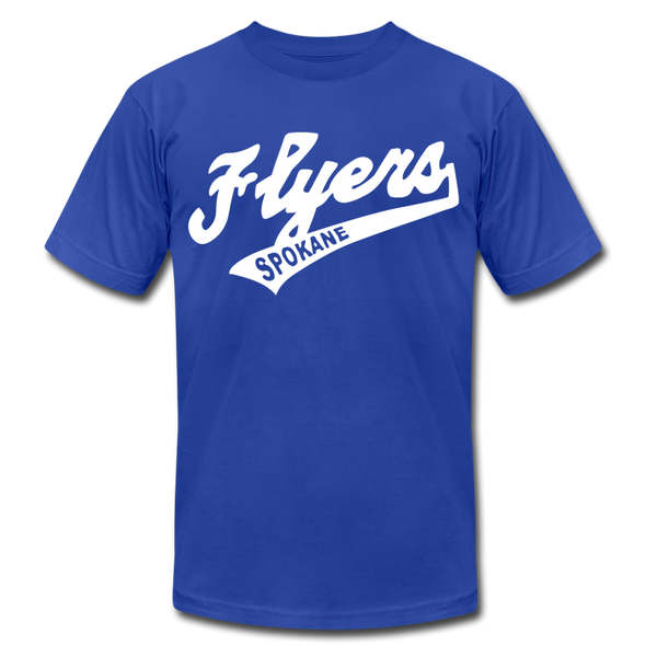 Spokane Flyers Script T-Shirt (Premium) - royal blue