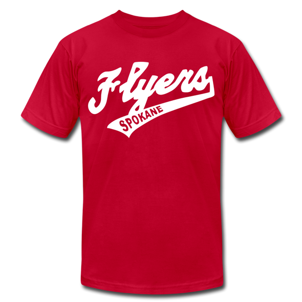 Spokane Flyers Script T-Shirt (Premium) - red