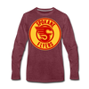 Spokane Flyers Red Design Long Sleeve T-Shirt (Premium) - heather burgundy