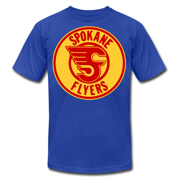 Spokane Flyers Red Design T-Shirt (Premium) - royal blue