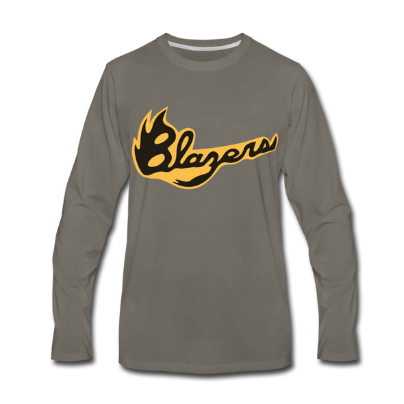 Syracuse Blazers Long Sleeve T-Shirt (Premium) - asphalt gray