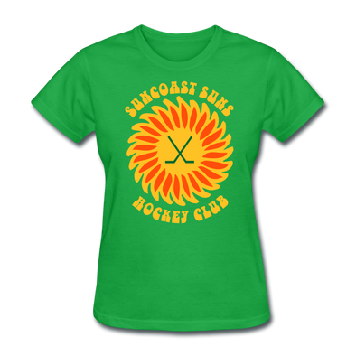 Suncoast Suns Women's T-Shirt - bright green
