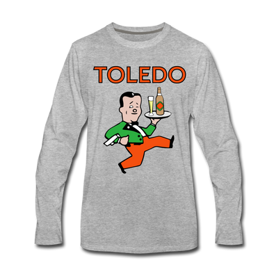 Toledo Buckeyes Long Sleeve T-Shirt (Premium) - heather gray