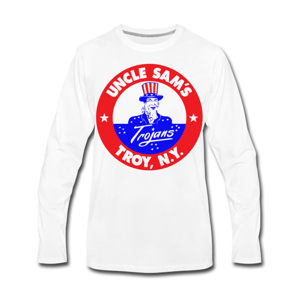 Troy Uncle Sam's Trojans Long Sleeve T-Shirt - white