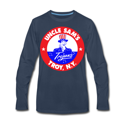 Troy Uncle Sam's Trojans Long Sleeve T-Shirt - navy