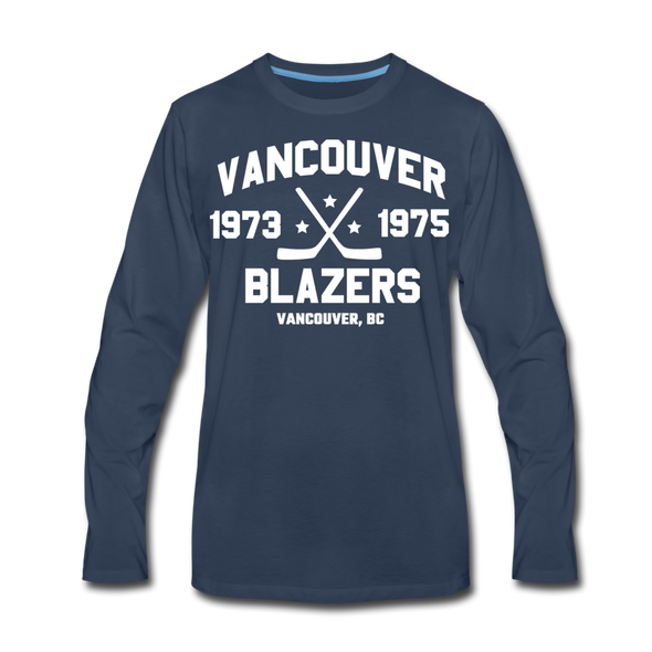 Vancouver Blazers Long Sleeve T-Shirt (Premium) - navy