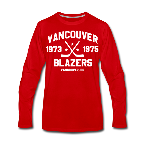 Vancouver Blazers Long Sleeve T-Shirt (Premium) - red