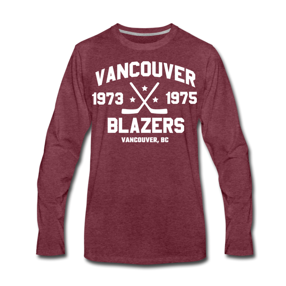 Vancouver Blazers Long Sleeve T-Shirt (Premium) - heather burgundy