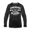Vancouver Blazers Long Sleeve T-Shirt (Premium) - charcoal gray