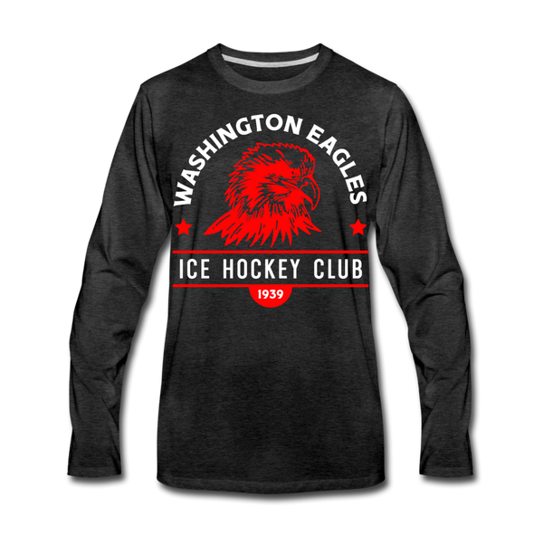 Washington Eagles Long Sleeve T-Shirt (Premium) - charcoal gray