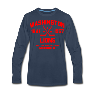 Washington Lions Dated Long Sleeve T-Shirt (Premium) - navy