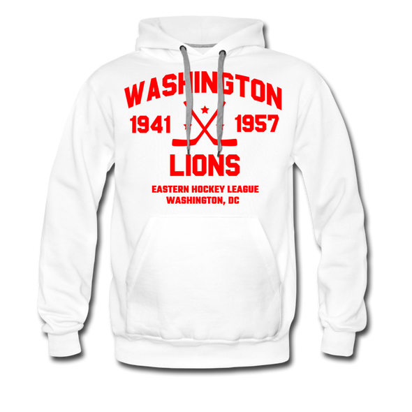 Washington Lions Dated Hoodie (Premium, EHL) - white