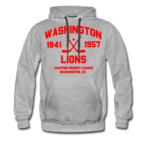 Washington Lions Dated Hoodie (Premium, EHL) - heather gray