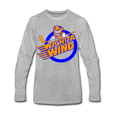 Wichita Wind Long Sleeve T-Shirt (Premium) - heather gray