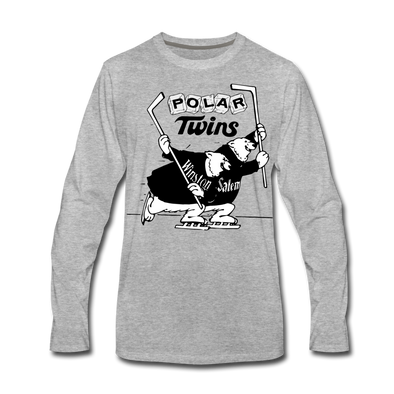 Winston-Salem Polar Twins Long Sleeve T-Shirt (Premium) - heather gray