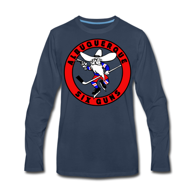 Albuquerque Six Guns Long Sleeve T-Shirt (Premium) - navy