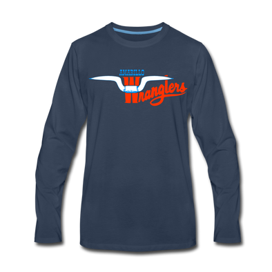 Amarillo Wranglers Horns Long Sleeve T-Shirt (Premium) - navy
