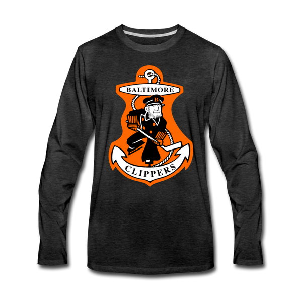 Baltimore Clippers Long Sleeve T-Shirt (Premium) - charcoal gray