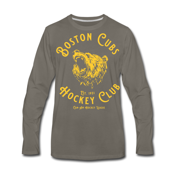 Boston Cubs Long Sleeve T-Shirt (Premium) - asphalt gray