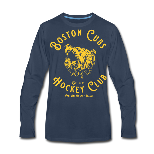 Boston Cubs Long Sleeve T-Shirt (Premium) - navy